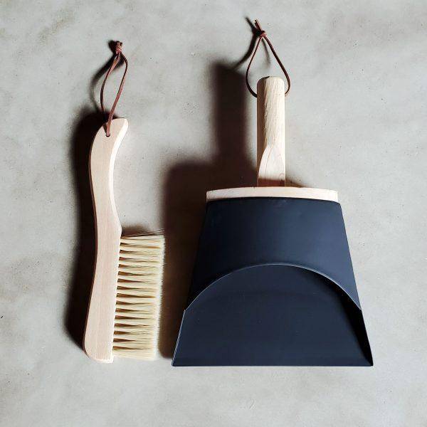 Home 1 natural wood brush broom dustpan