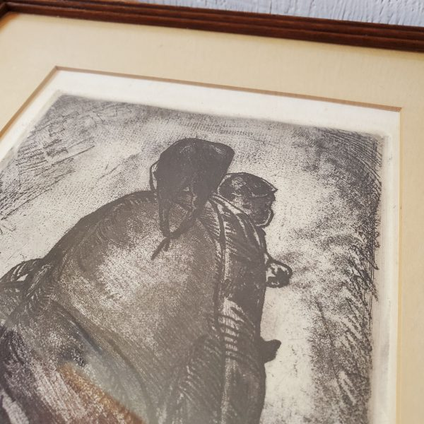 art 2 signed carl pappe etching art