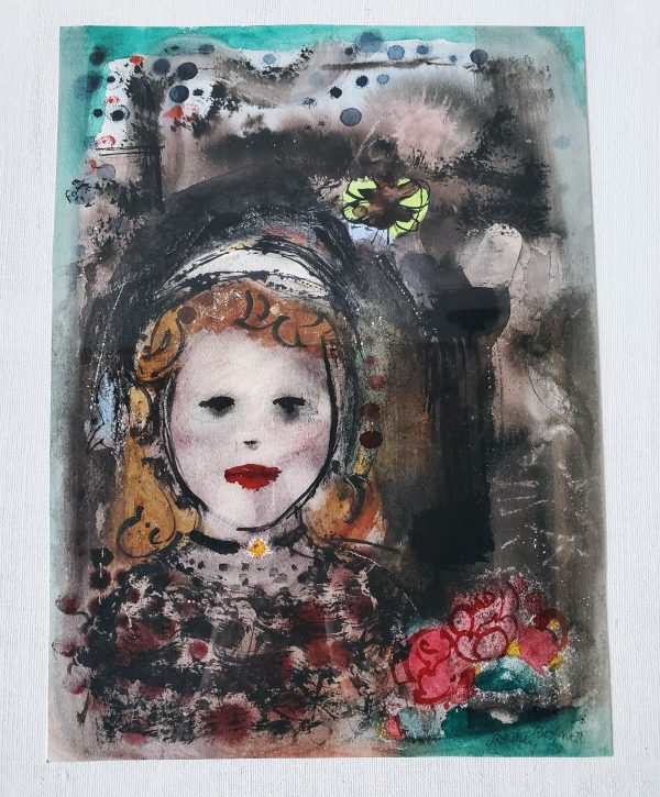 art 3 dream girl watercolor painting rainey bennett